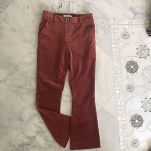 Bell bottom velvet pants